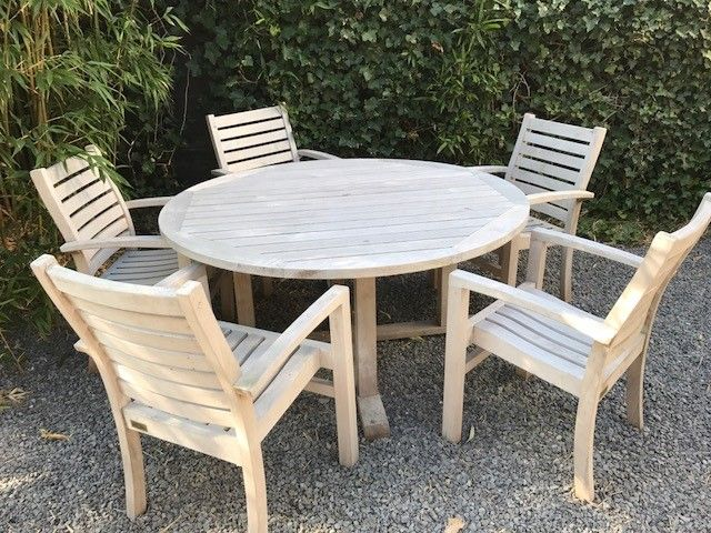 Diner-lounge stoel - horizontale spijl - 40cm hoog 4
