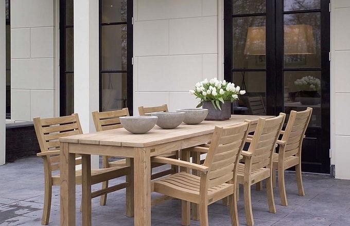 Teakhouten stapelstoel | 40 % korting ! Outlet 1