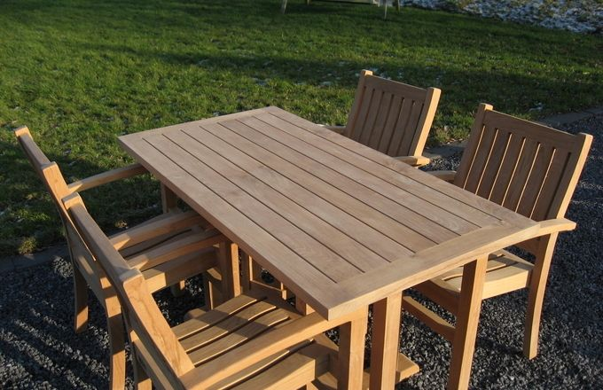 Teak tuintafel | Dinner Table Excellent New Style 2