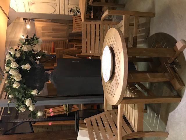 Diner-lounge stoel - horizontale spijl - 40cm hoog 2