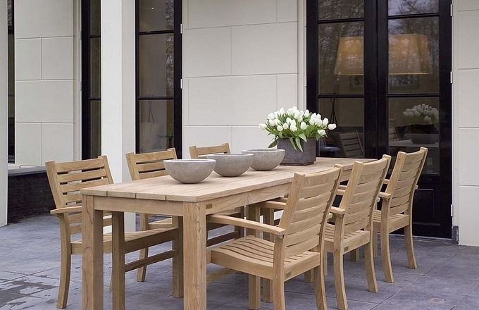 Diner-lounge stoel - horizontale spijl - 40cm hoog 3
