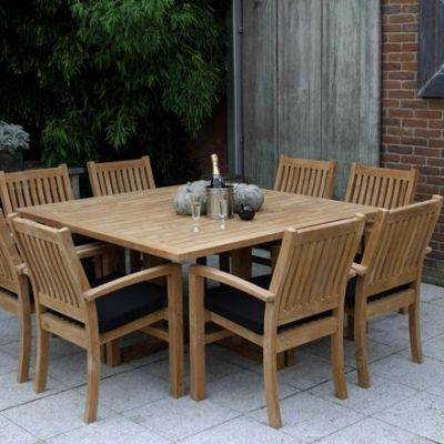 Teak Dinner Table Square - Excellent 25% KORTING